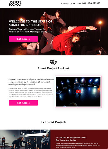 Project Lockout Landing Page