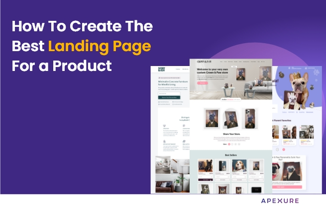 landing page for a product